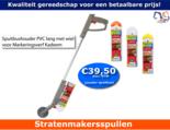 Spuitbushouder-PVC-lang-met-wiel-voor-Markeringsverf-Kadeem