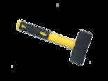 Vuisthamer-moker-2-kg-met-fiberglassteel-geel