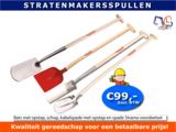 Bats met opstap, schop, kabelspade met opstap en spade Strama voordeelset_8