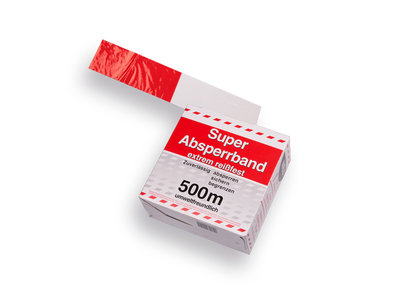 Afzetband Rood-Wit 500 meter lang