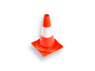 Afzetkegel oranje-wit 32 cm